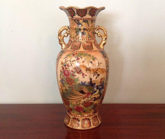 Royal Satsuma large handled porcelain by MargueritesWoodShed