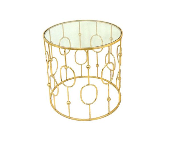 Gold Round Side Table – Stacks Furniture Store