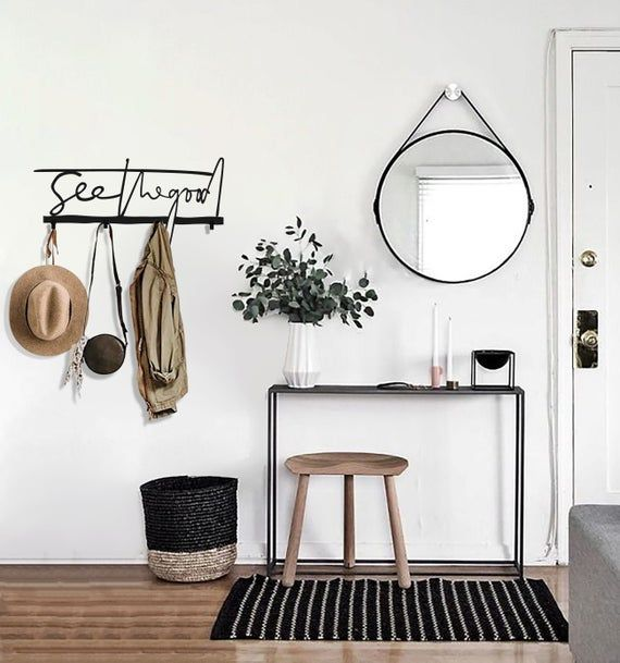 Modern Wall Hooks Coat Rack Coat Rack Wall Mount Metal Etsy In 2020 Apartment Interior Design Cute Home Decor Apartment Decor