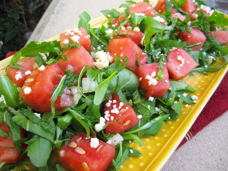 Refreshing Arugula, Watermelon, and Feta Salad | From the Little ...