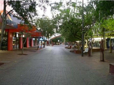 Todd Street Mall, Alice Springs in the Northern Territory of Australia.