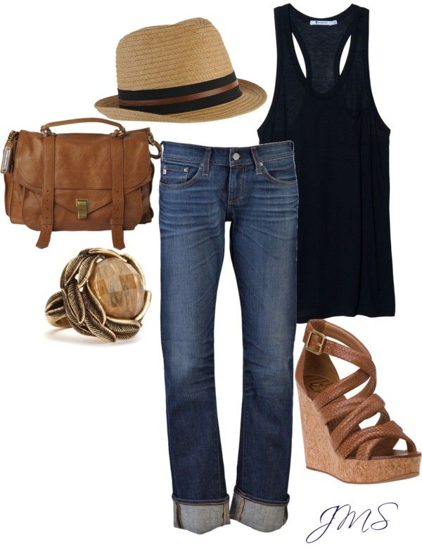 Comfy weekend wear. I'd ditch the shoes for flip flops--Tall girl problems :)