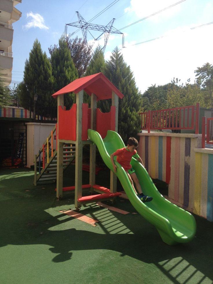 Tek Kaydıraklı Oyun Parkı,Ay-Go, Ahşap Oyun Parkları,Ay Geliştirici Oyuncaklar - Bursa