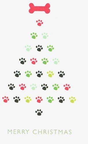 Paw Print Tree Christmas Cards