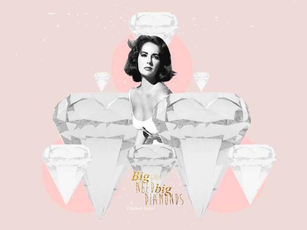 Diamonds digital collage