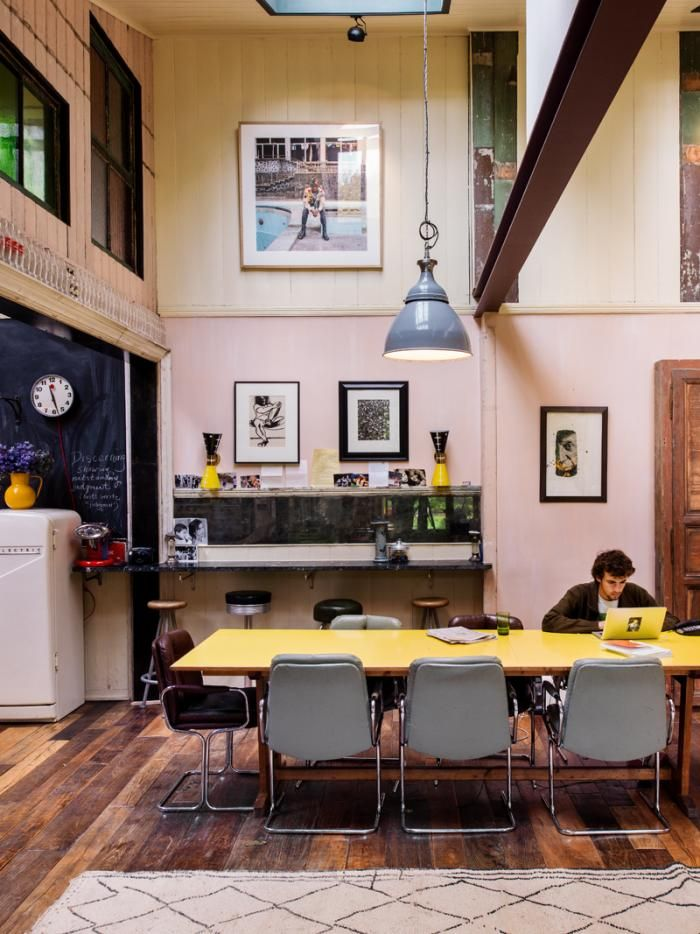 Gaby Dellal London Home Renovation Pink Kitchen Yellow Mid Century Table Remodelista