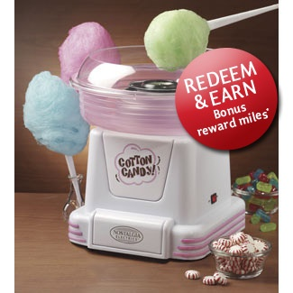 Cotton candy machine | How fun would it be to serve your guests cotton candy after the Canada Day BBQ? Redeem for this product with reward miles! #airmiles #canadaday