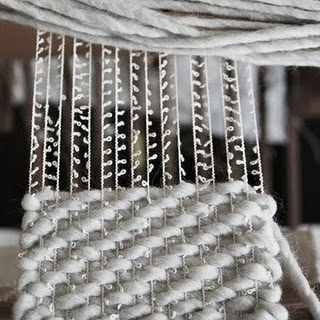 clever woven scarf. a beauty.