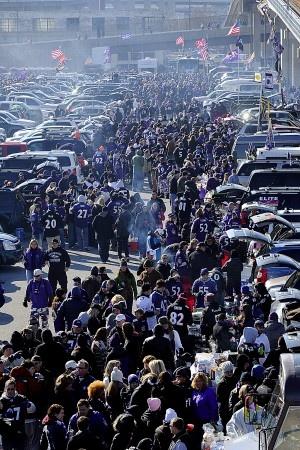 Ravens M&T Stadium tailgating