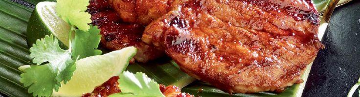 OPTIGRILL: Côtelettes de porc à l'ananas et aux piments chipotle