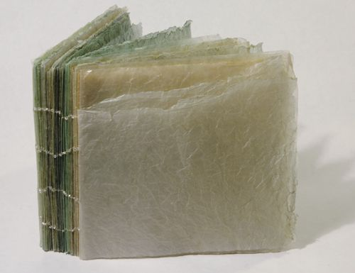 workman:    chels-e-harris:  Ocean Book  (oil on glassine, beads, monofilament)  (ByVictoria May)