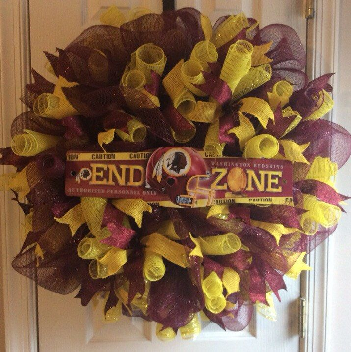A personal favorite from my Etsy shop https://www.etsy.com/listing/255228830/washington-redskins-wreath