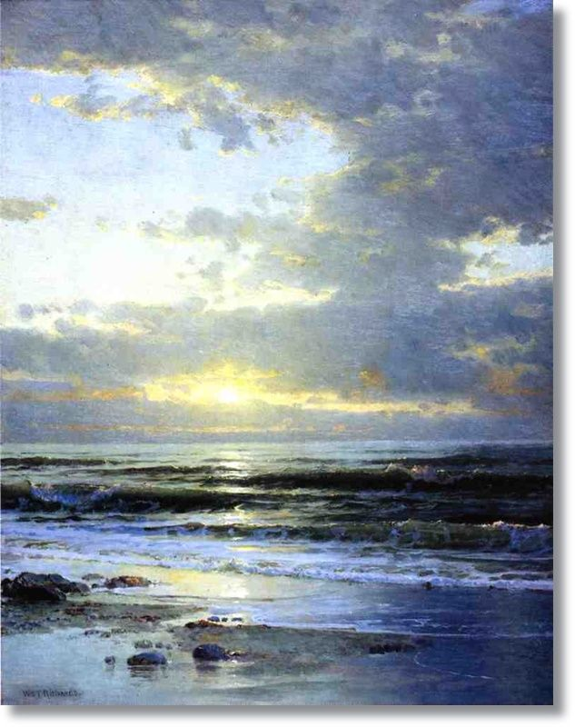 william trost richards   ... the Beach by William Trost Richards - Famous Oil Painting Reproduction