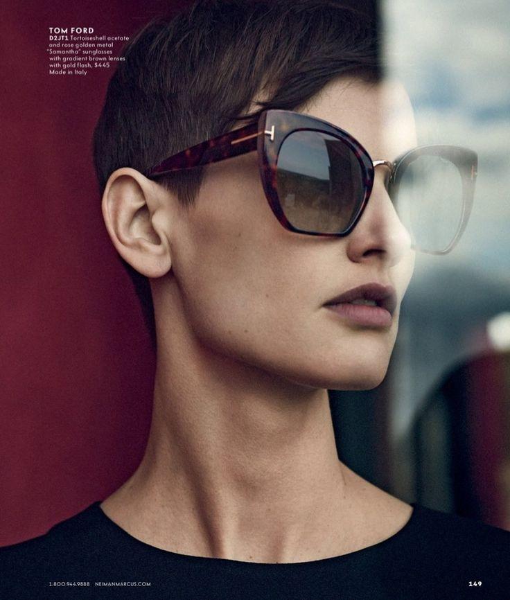Tom Ford Samantha Cropped Cat-Eye Sunglasses