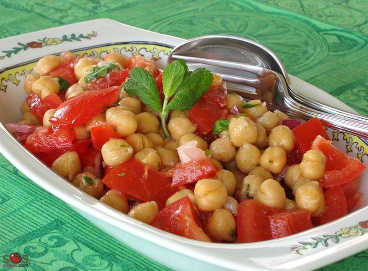 SOSCuisine: Salade marocaine de pois chiches et tomates