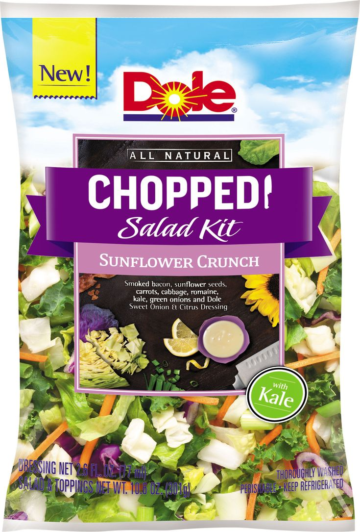 All Natural Sesame Asian and Sunflower Crunch Chopped Salad Kits offer two delicious new ways to experience DOLE® Chopped Salads. (AP Photo/Dole Fresh Vegetables)