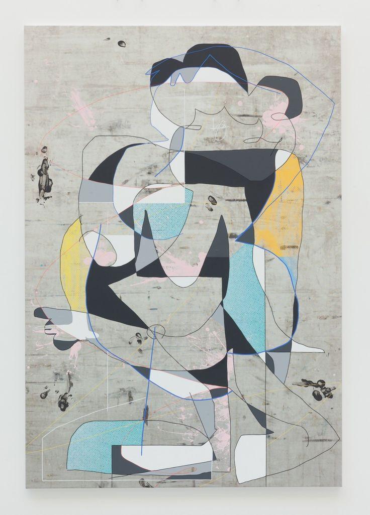 Luke Rudolf - Standing Figure, 2014 / acrylic & UV ink on canvas / 190 x 130 cm