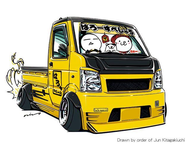 Ozizo Art Show Crazy Car Art Suzuki Carry Drawn By Order Of Jun Mobil Klasik Truk Derek Mobil Modifikasi