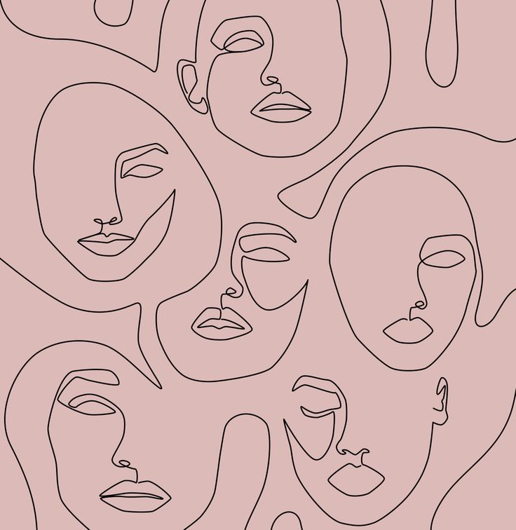 Blush Faces Mini Art Print by Explicit Design - Without Stand - 3