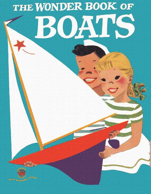 The Wonder Book of Boats 1951: Books Covers, Wonder Books, Boats 1951 Illustrations, Boats 1955, Earl Olives, Illustrations Retro, Golden Books, Children Books, Olives Hurst