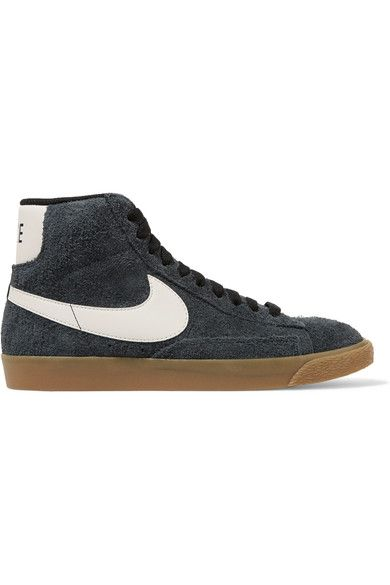 Nike - Blazer Mid Suede High-top Sneakers - Storm blue - US