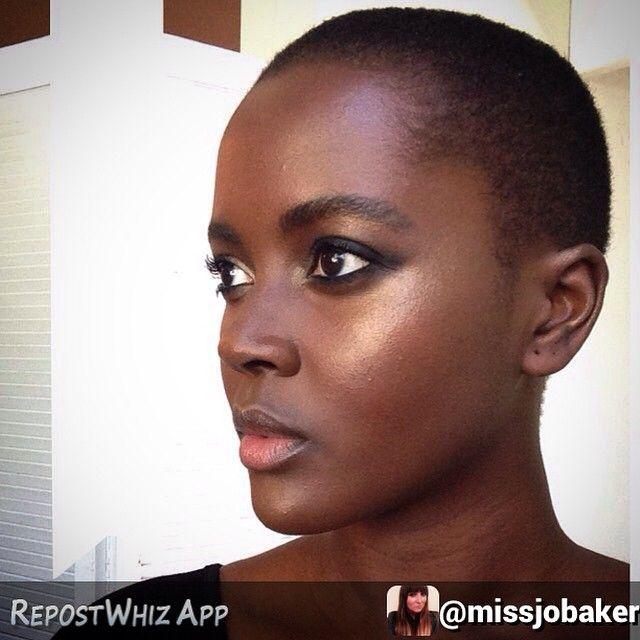 By @missjobaker via @RepostWhiz app: And after…. #beaming #beauty #golden #hilighter #cheekbones #makeup #makeupartist #makeupjunkie #blended #stripes @philomenakwao ⚡️ #nofilter #philomenakwao...