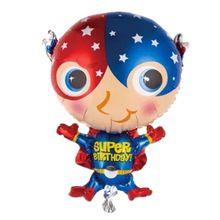 28 pulgadas globos de papel de forma de dibujos animados superman niños de juguete globos feliz cumpleaños decoración del partido del festival globos baby shower(China (Mainland))