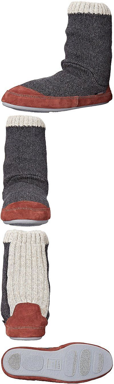 Slippers 163550: Acorn Mens Slouch Boot Slipper, Charcoal Ragg Wool, X-Large 12-13 B Us -> BUY IT NOW ONLY: $46.03 on eBay!