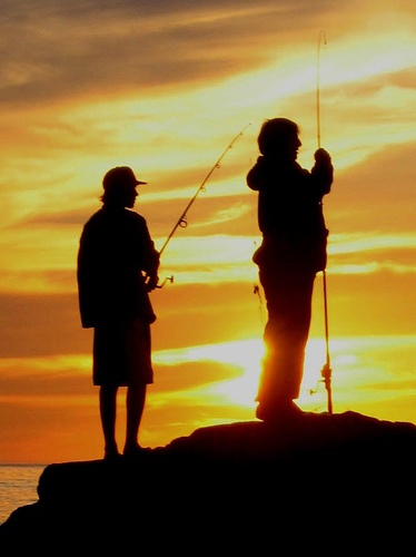 let's go fishing! #fishing #sunset