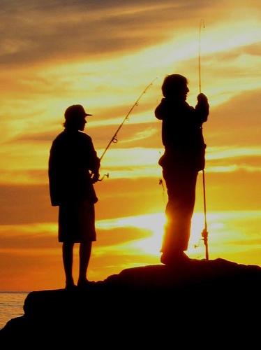 let's go fishing! #fishing #sunset