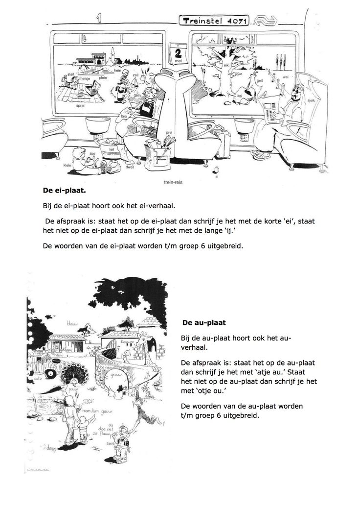 Ei-plaat en au-plaat Jose schraven, zo leren kinderen spellen