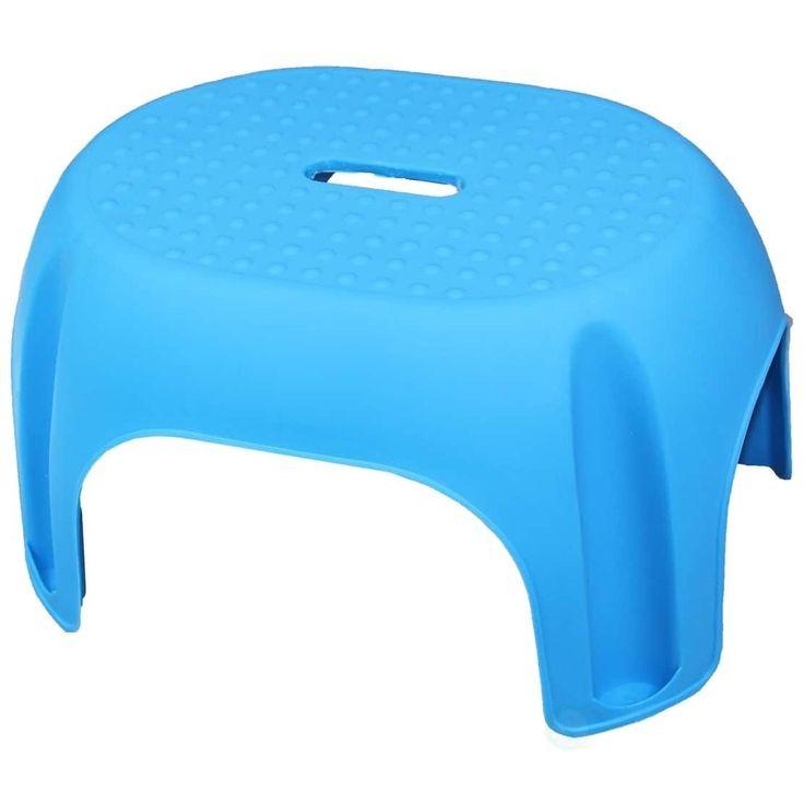 Basicwise Plastic Step Stool (Blue)
