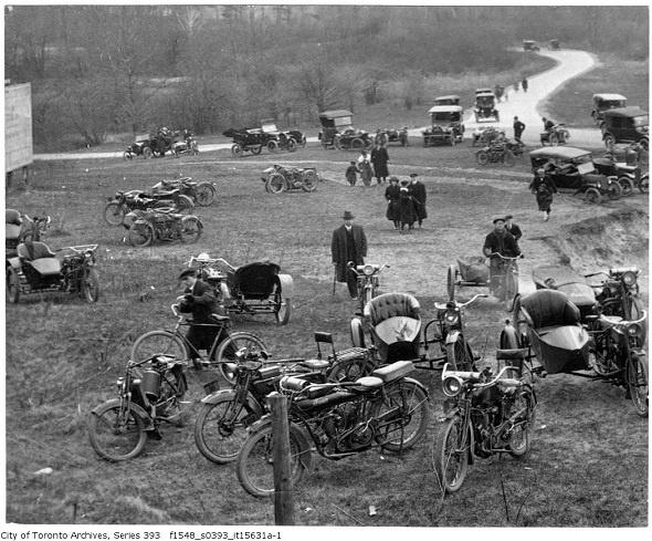 Motorcycle Hillclimb, Toronto.