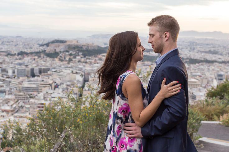Athens Surprise Proposal at Lycabettus Hill