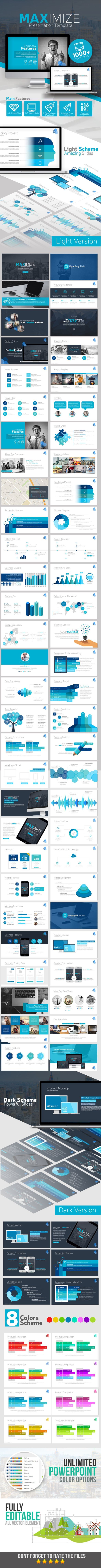 MAXIMIZE Presentation Template  #ever #diagram #puzzle • Click here to download ! http://graphicriver.net/item/maximize-presentation-template/11563042?ref=pxcr