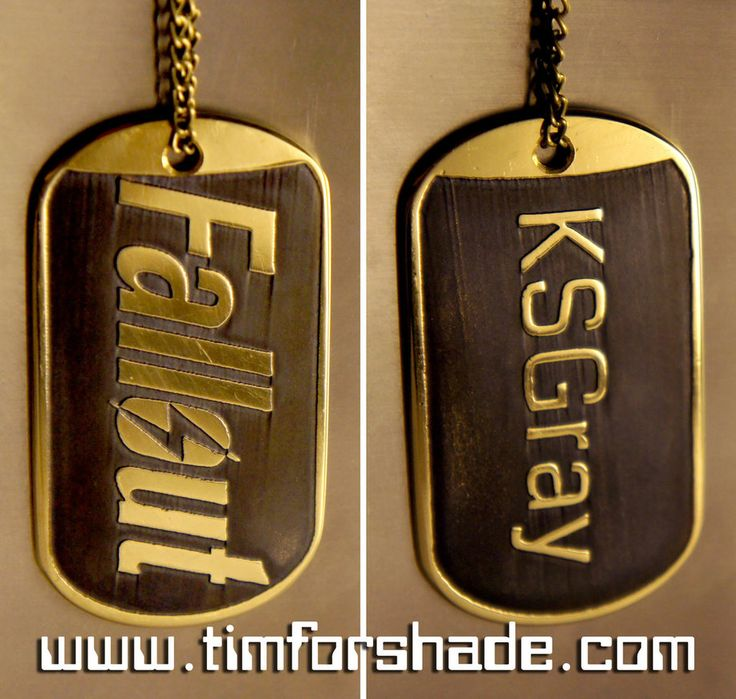 Fallout brass dog tag by TimforShade on DeviantArt