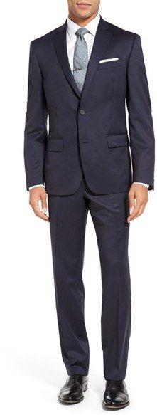 Men's Nordstrom Men's Shop Classic Fit Stripe Wool Suit