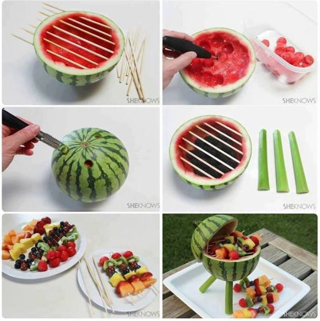Watermelon Barbecue Fruit Bowl