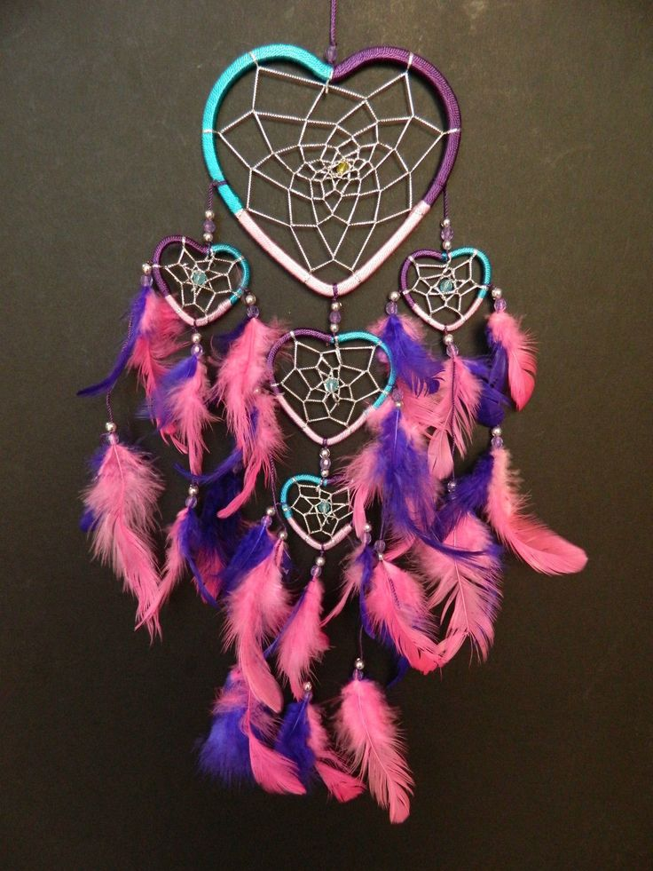 PRETTY HEART DREAM CATCHER PINK PURPLE TURQUOISE GIRLS GIFT DREAMCATCHER UK  | Maison, Décoration intérieure, Tentures murales, tapis | eBay!