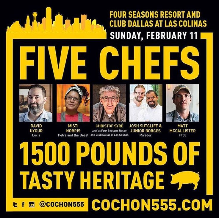 #SaveTheDate: NEXT STOP #TEXAS! If you love a good cause and want to attend one of the the country's most talked about culinary events, then clear your weekend calendar when #Cochon555 lands in #Dallas for the first time EVER! —> J.MP/555DAL2018 @fsdallas 
