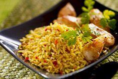 arroz-indiano-açafrão-legumes