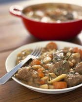 Rabbit Stew Recipe, slow cooked in red wine, mmm!