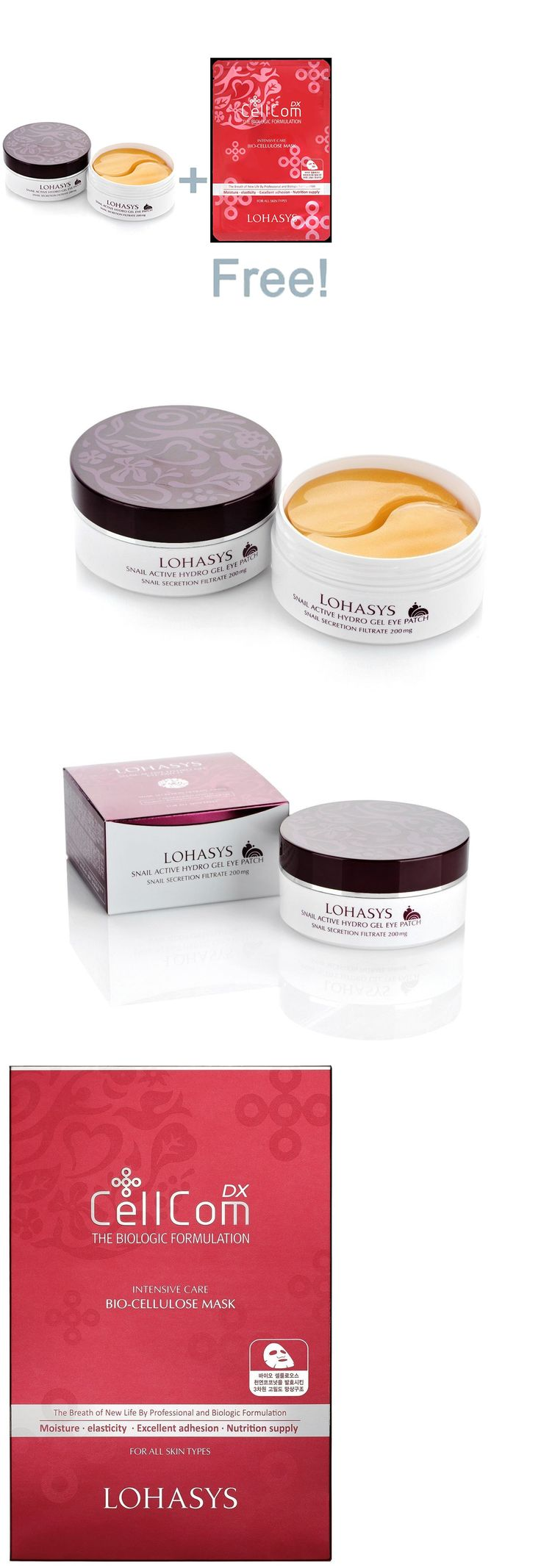Eyepatches and Eyeglass Patches: Lohasys Snail Active Hydro Gel Eye Patch 100G + Cellcomdx Intensive Mask 25G BUY IT NOW ONLY: $43.31