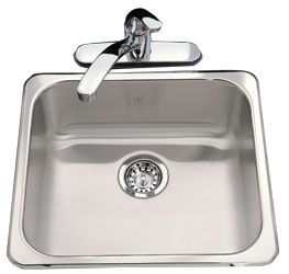 Kindred single drop-in sink.  293$ at Wolseley.
