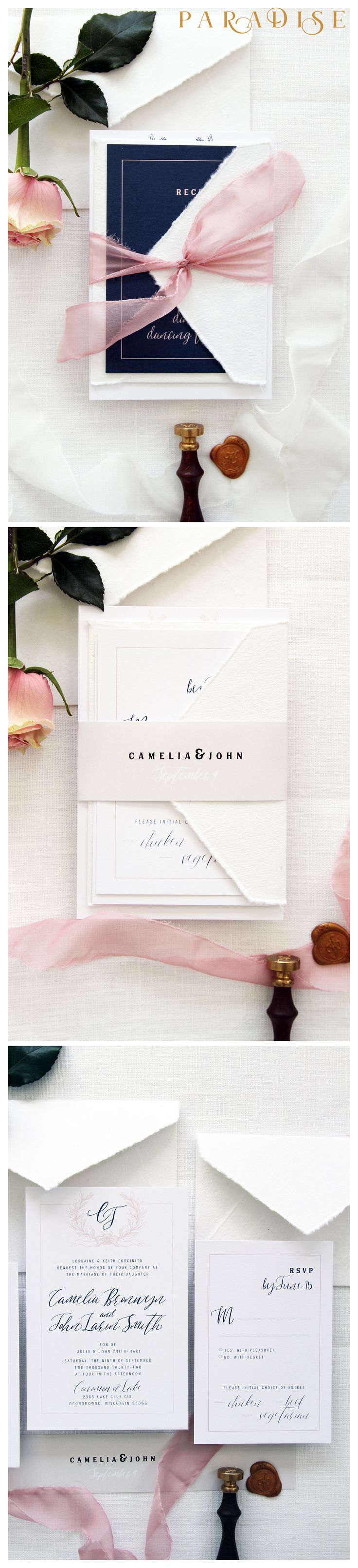 handmade wedding cards ireland%0A Camelia   Wedding Invitation Sets  Invitation Set Templates or Printed  Invitation Sets  Handmade Envelopes