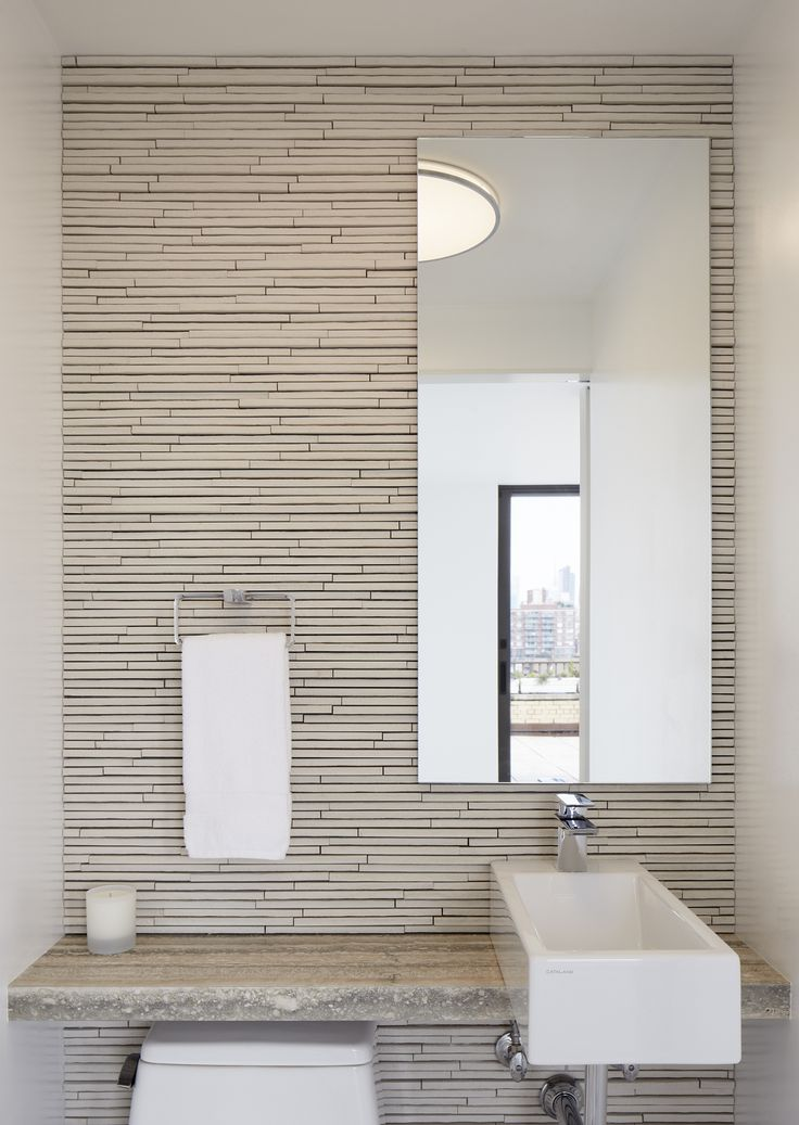 Images Of One wall of tile behind toilet and sink The remaining walls are painted Small Bathroom SinksModern Bathroom DecorModern BathroomsBathroom