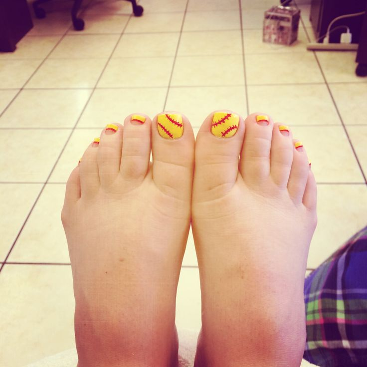 Softball Toes. SoftballBathCraftsToNail Art - 16 Best Toenails Images On Pinterest Softball Nails, Toenails
