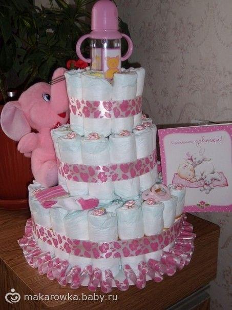 Торт из памперсов)))