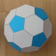 Libros Pop-Up Books Cards: Cómo hacer un Balón de Futbol Soccer de Papel