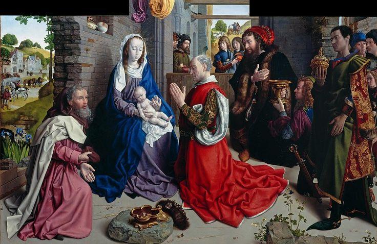 Гус, Хуго ван дер (ок1425-1482) - Поклонение волхвов (Алтарь из Монфорта).